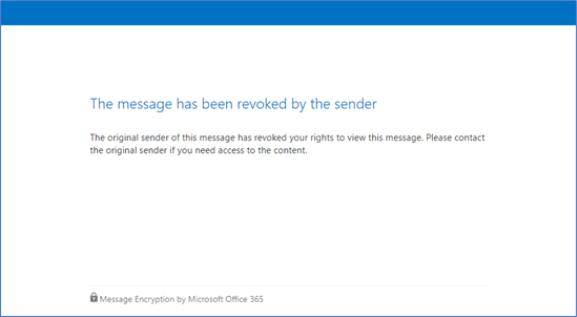 Revoked encrypted email